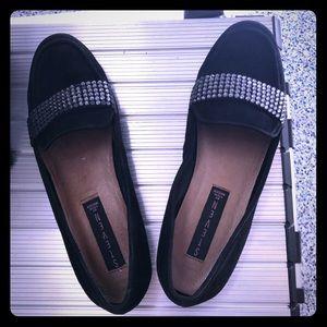 Steven by Steve Madden Size 7 Black Suede Loafers